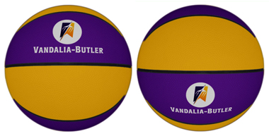 Custom colored rubber basketballs for sale. Order custom rubber basketballs for camp.